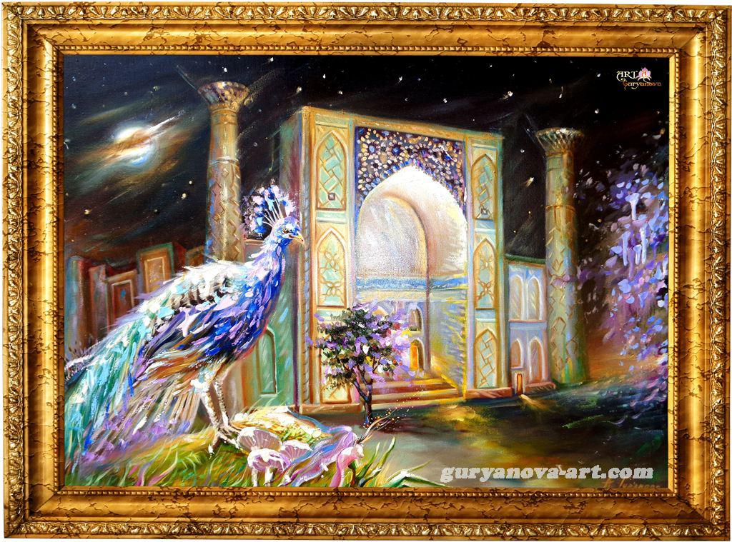 картина Калейдоскоп восточных метаморфоз «Пава Восточной ночи»