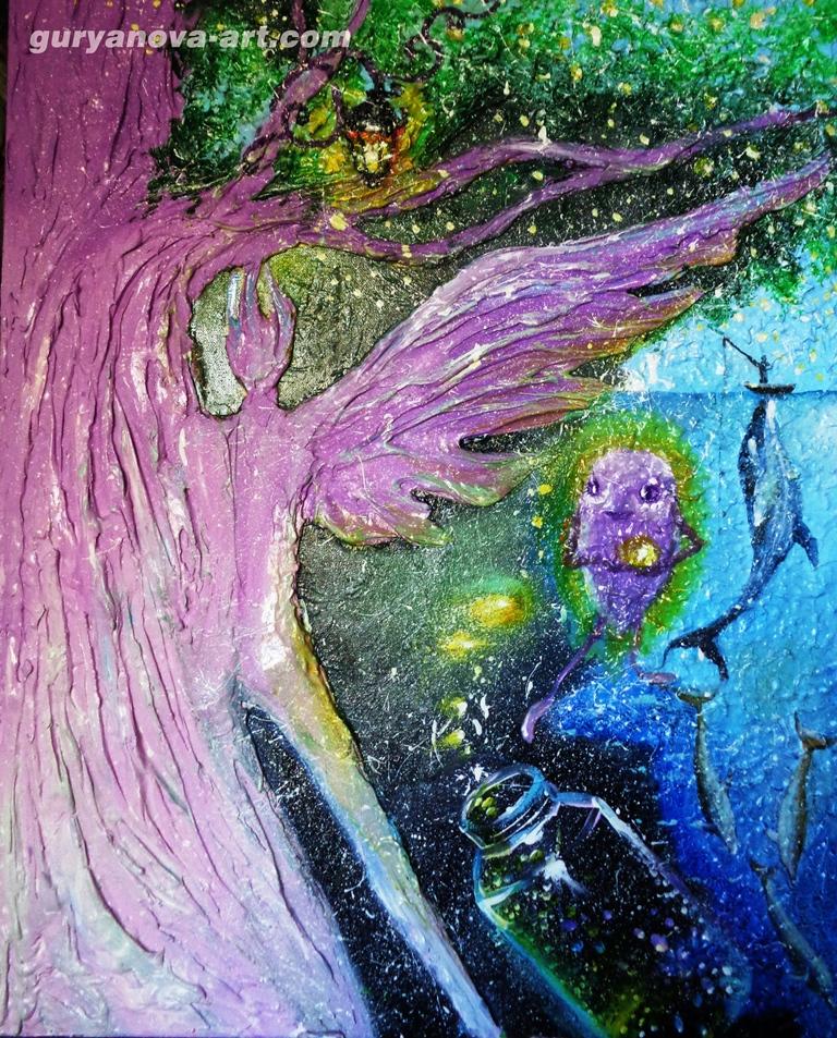 """картина Калейдоскоп Восточных метаморфоз """"Крыло ангела"""""""