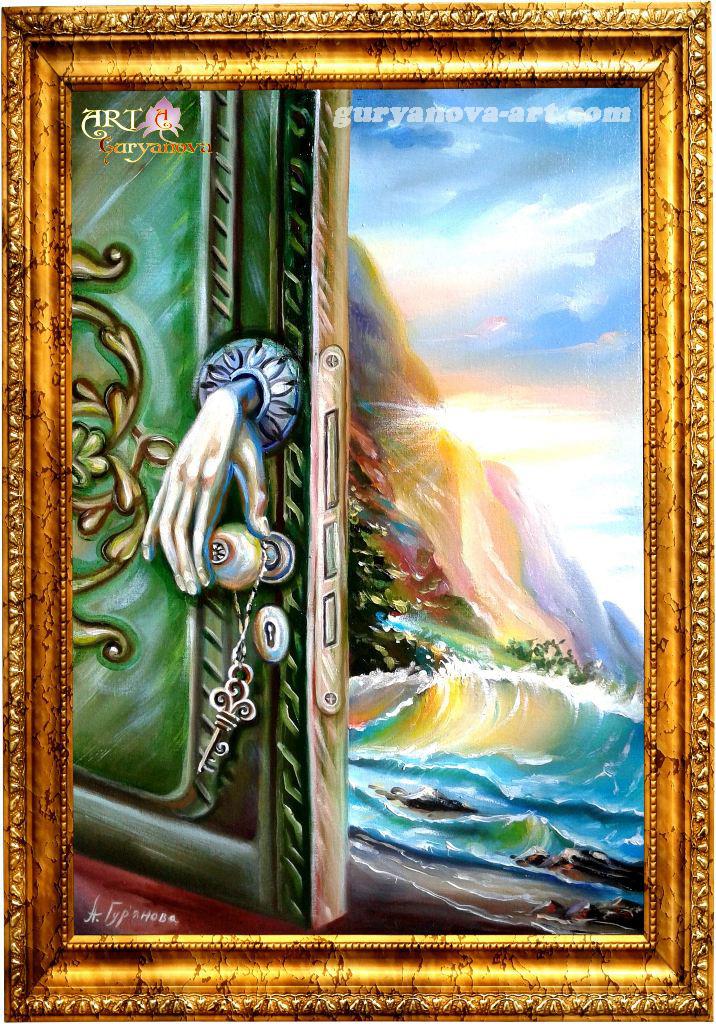 картина Калейдоскоп восточных метаморфоз «Дверь в путешествие»
