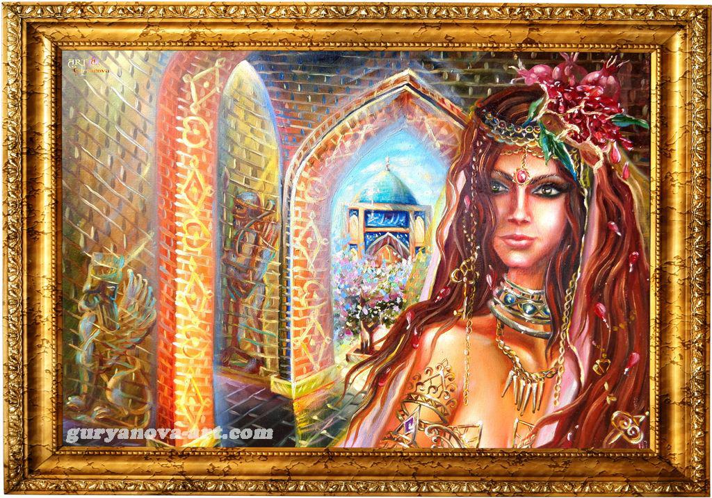картина Калейдоскоп восточных метаморфоз «Девушка Востока»