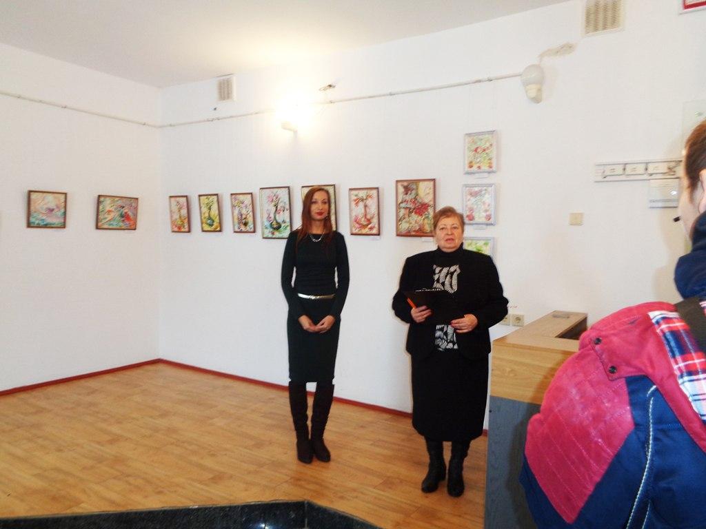 Персональная выставка картин «Мысль — цветы. Слово — завязь. Действия  — плод. Город  Канев.