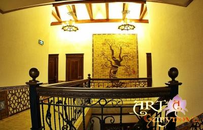 """художественная роспись стен, картины готельно -ресторанный комплекс Гостиница """"Платан"""" Platan город Самарканд Узбекистан"""