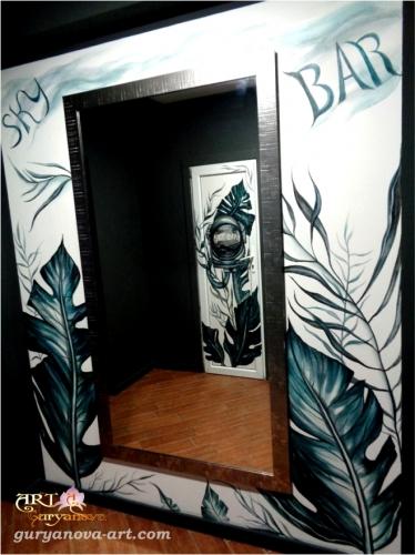 роспись стен и дверей sky bar в Черкассах