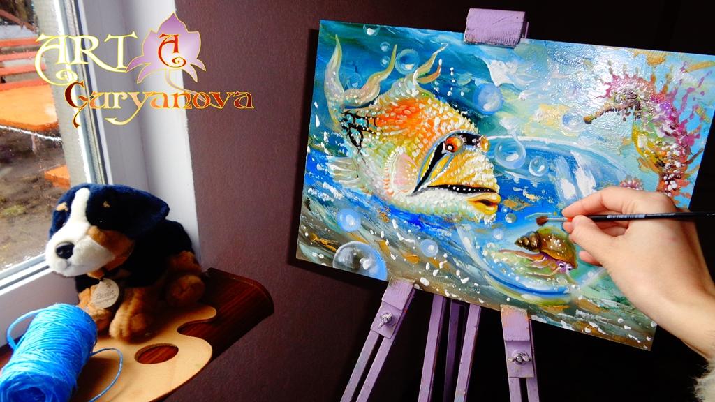 живопись рисовать картины морских обитателей